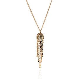 DAMIANI Rose 18k Gold 1.22ct Chandelier Diamond Pendant Necklace