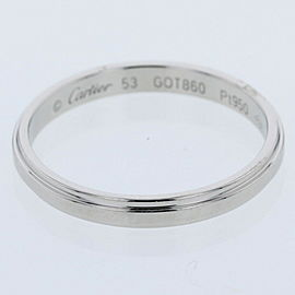 CARTIER Damour 950 Platinum Ring TBRK-302