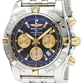 Polished BREITLING Chronomat 44 18K Gold Steel Automatic Watch IB0110