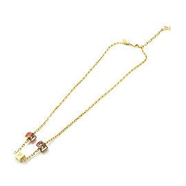 LOUIS VUITTON Gold Tone Collier Gamble Necklace M66829