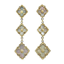 Buccellati 18K Yellow Gold Opera Mother Of Pearl Drop Earrings