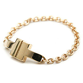 TIFFANY & Co 18K Pink Gold T TWO Chain Ring