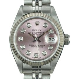 Rolex Datejust 6917 Stainless Steel with Diamond Vintage 26mm Womens Watch