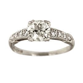 Platinum with 1.14ctw. Diamond Engagement Ring Size 6.5