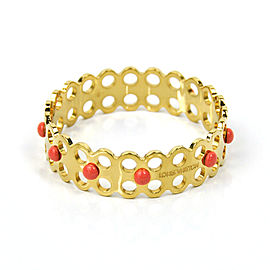 Louis Vuitton Gold Tone Metal Bangle Bracelet