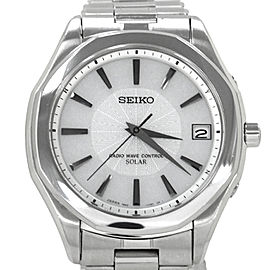 Seiko Radio Wave Control Stainless Steel Mens Watch