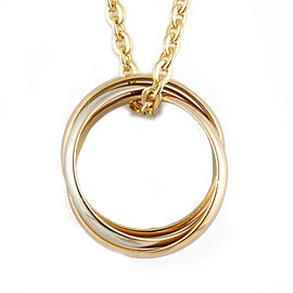 CARTIER 18K yellow goldx18K Pink Goldx18K white gold Baby Trinity 3 consecutive 3 colors Necklace CHAT-237