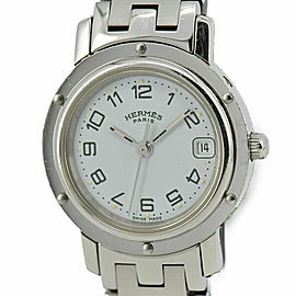 HERMES Clipper CL4.210 Stainless Steel White Dial Quartz Women's Watch