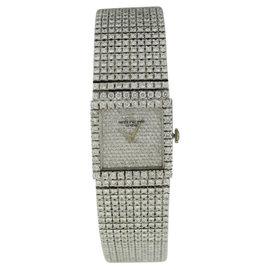 Patek Philippe 3430-12 18K White Gold & Diamond Rare Vintage Womens Watch