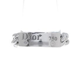 Christian Dior 18K White Gold Ring Size 5.25