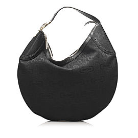 Horsebit Glam Canvas Hobo Bag