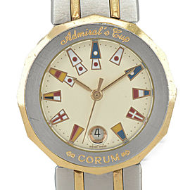 CORUM Admiral 39.610.21 V-52 Ivory Dial 18K/SS Quartz Ladies Watch