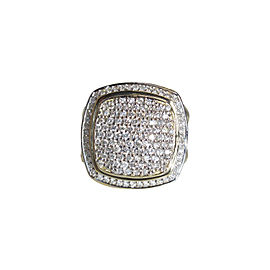 David Yurman 18k Yellow Gold Albion Ring Size 7 With 1.57ctw Diamonds