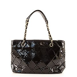Chanel CC Chain Tote Perforated Patent Medium