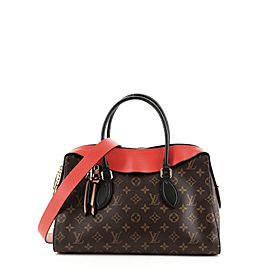 Louis Vuitton Tuileries Handbag Monogram Canvas with Leather
