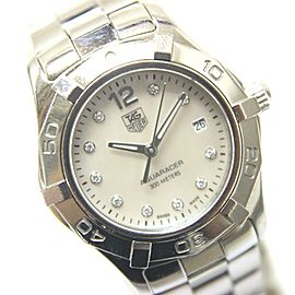TAG HEUER WAF1415 Aquaracer Stainlees Steel 10-Point Diamond Wrist watch
