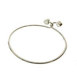 TIFFANY & Co. Silver 18K Yellow Gold 2 heart bangle Bracelet