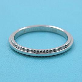 TIFFANY & CO 950 platinum Milgrain Ring