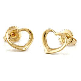 TIFFANY&Co. 18K yellow Gold Open heart earring CHAT-411