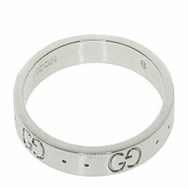 GUCCI 18K White Gold Icon ICON Ring