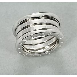 Bulgari B.zero1 18K White Gold Colosseum Ring Size 4.5