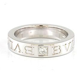 BVLGARI 18K white gold Diamond Double Ring CHAT-480