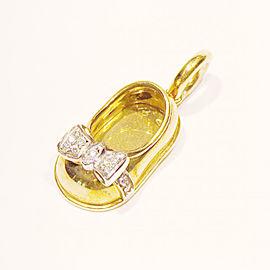 Aaron Basha 18K Yellow Gold Diamond Shoe Charm Pendant