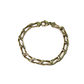 14K Yellow Italian Gold Chain Bracelet
