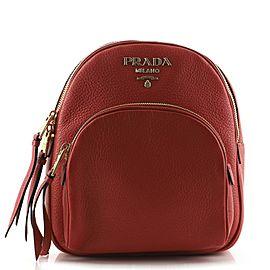 Prada Convertible Front Pocket Backpack Vitello Daino Small