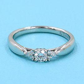 TIFFANY & CO 950 platinum Harmony Side Stone ring
