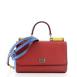 Dolce & Gabbana Miss Sicily Convertible Clutch Leather Mini