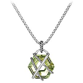 David Yurman Cable Wrap Necklace with Prasiolite and Diamonds