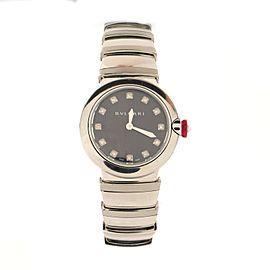 Bvlgari LVCEA Tubogas Quartz Watch Stainless Steel with Diamond Markers 28