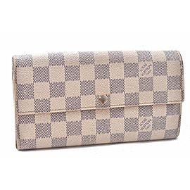 Louis Vuitton Damier Azur Portefeuille Sarah Long Wallet N61735