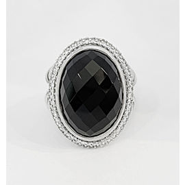 David Yurman Signature Oval Collection Black Onyx/Diamond