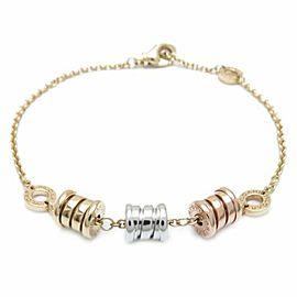 BULGARI 18K Pink Gold/18K Yellow Gold/18K White Gold B.zero1 Element Bracelet