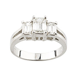 18K White Gold with 1.17ctw. Diamond Engagement Ring Size 5.5