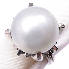 Platinum/Pearl diamond Ring NST-385