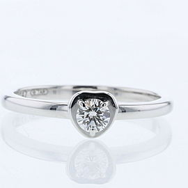 CARTIER 18k white GOld/diamond Diaman Leger de Cartier Ring TBRK-669