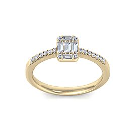 Baguette Diamond Ring In 18K Gold with 0.66ct White Diamonds
