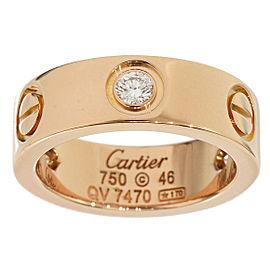 Cartier 18K Pink Gold Half Diamonds Love Ring Size 3.75