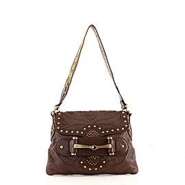 Gucci Pelham Flap Bag Studded Leather Medium