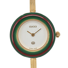 GUCCI Change bezel 11/12 White Dial Quartz Ladies Watch