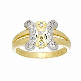 CELINE 18K Yellow Gold Diamond Ring