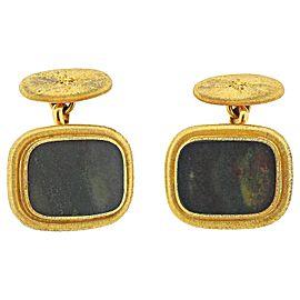 Mario Buccellati Bloodstone Gold Cufflinks