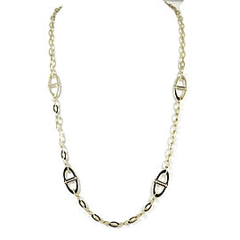 Roberto Coin 18K Yellow Gold Linked Chic and Shine Toggle Necklace
