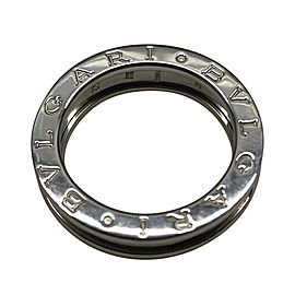 Bulgari B.Zero1 18K White Gold Single Band Ring Size 6