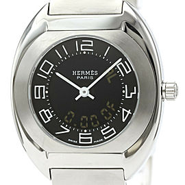 Polished HERMES Espace Stainless Steel Quartz Ladies Watch ES1.210