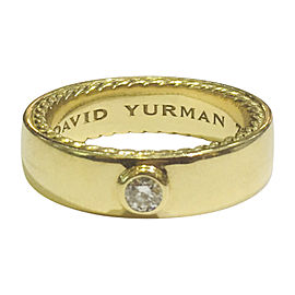 David Yurman Streamline 18K Yellow Gold with 0.20ct. Diamond Band Ring Size 10
