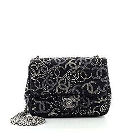 Chanel Paris-Shanghai Pudong Flap Bag Strass Embellished Tweed Mini